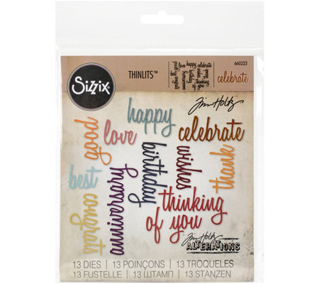 Sizzix Thinlits 13-Piece Celebration Die Set byTim Holtz