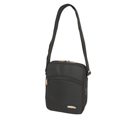 Travelon Large Three-Compartment Expandable Shoulder Bag