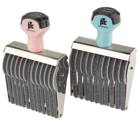 Etcetera Rolling Stamp Alphabet Kit