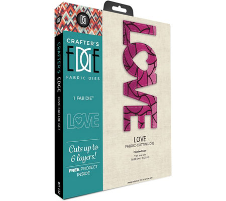 Crafter's Edge Love Fabric Die