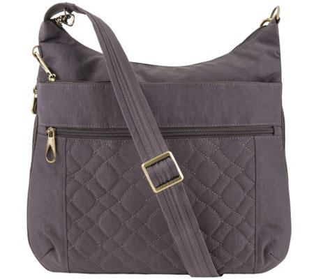 Travelon Anti Theft Quilted Crossbody with Expansion