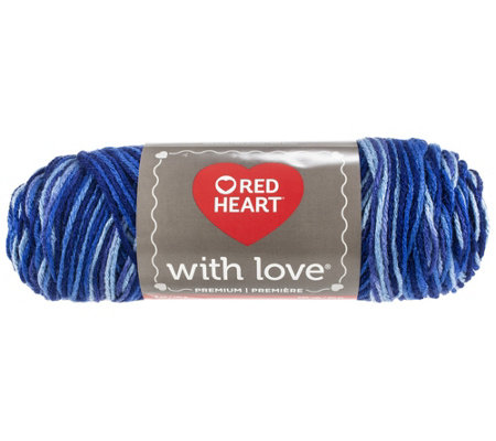 Red Heart Multipack Of 24 Deep Blues With Loveyarn