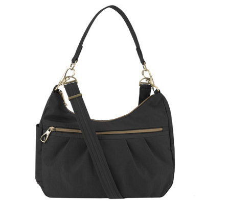Travelon Anti Theft Signature Hobo with Double Strap