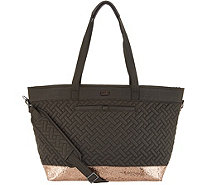 Lug Quilted Tote Bag - Avion - F13353