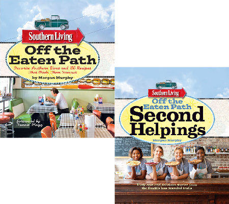 """Off the Eaten Path"" 2 Cookbook Set by Southern Living"