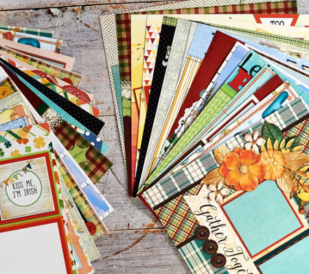 EZ Scrapbooks All Seasons Holiday 28 Piece Paper Collection