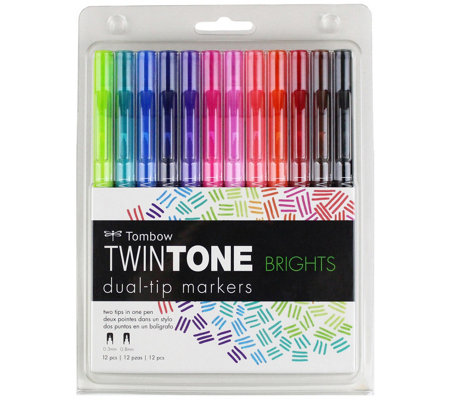 Twintone 12 Pack Marker Set