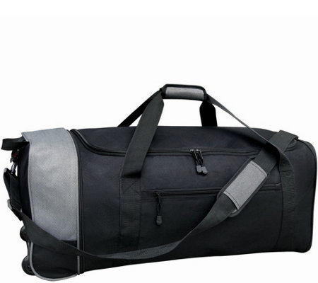 "Travelers Club 32"" Large Collapsible Two-TonedRolling Duffel"