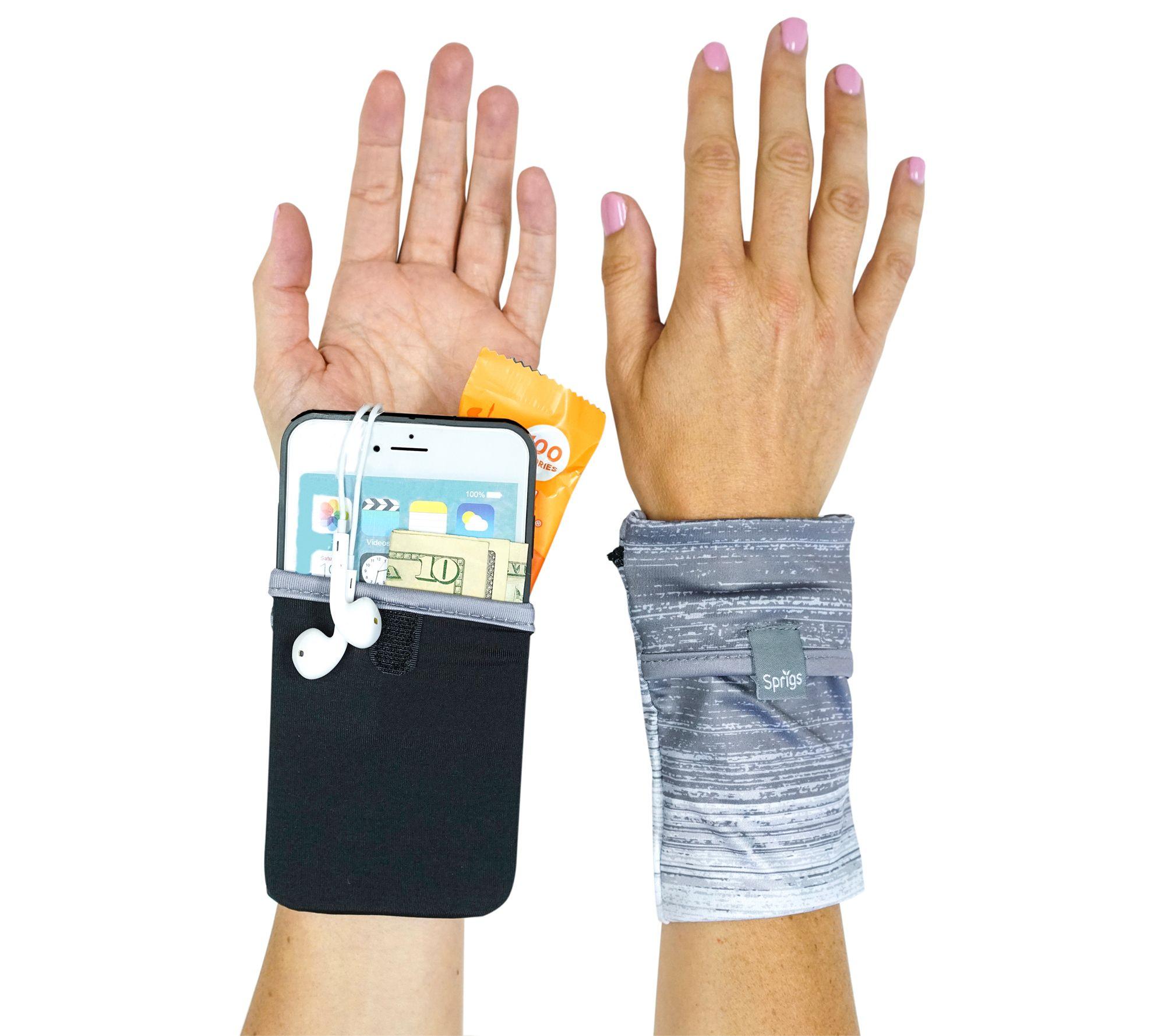 Two-pocket wrist wallet