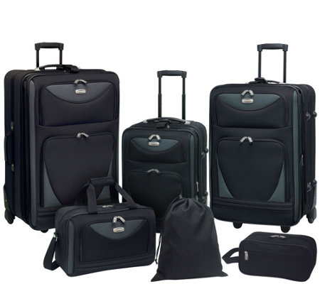 Travelers Club 6-Piece Softside Expandable Family Luggage Set