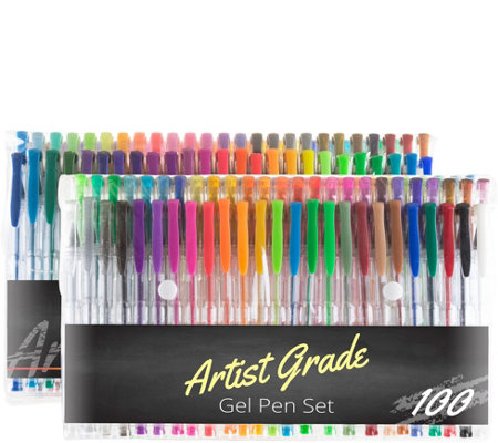 Set Of 100 Gel Pen Set By Artist Grade Page 1 Qvc Com