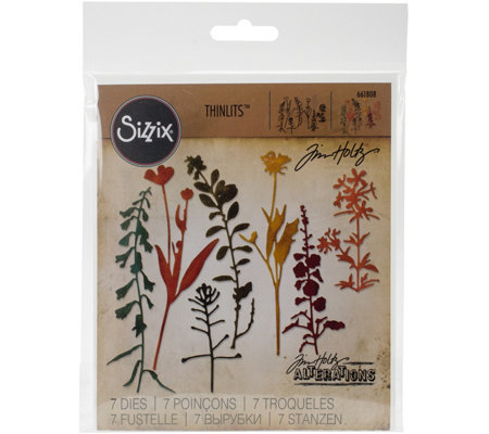 Sizzix Thinlits Seven-Piece Wildflowers Die Setby Tim Holtz