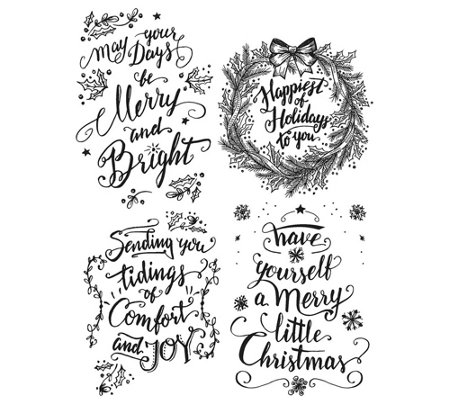 Tim Holtz Cling Stamps - Doodle Greetings #1