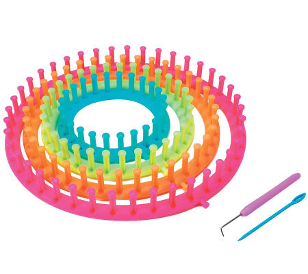 Easy Knitting Round Loom Set - Neon Colors