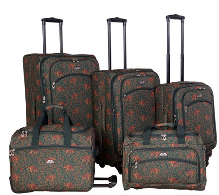 American Flyer Budapest 5-Piece Spinner LuggageSet