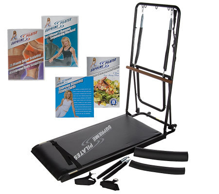 Supreme Pilates Total Body Trainer With 3 Dvds Fold Away Storage