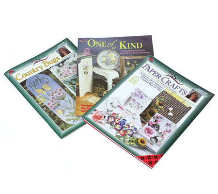 Donna Dewberry One Stroke Set Of 3 Painting Books Qvc Com