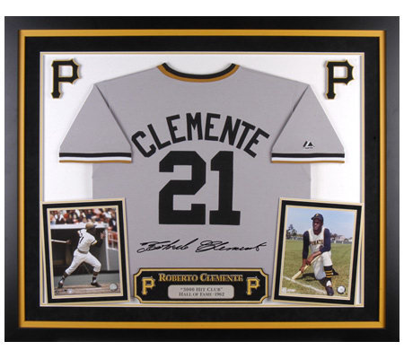 finest selection bcfbb dbac5 Roberto Clemente Deluxe Framed Majestic Cooperstown Jersey — QVC.com