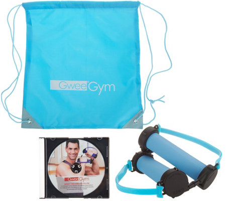 Gwee Gym Lite Resistance Band Workout System with DVD and Echelon App
