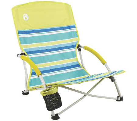 Coleman Utopia Breeze Beach Sling Chair with Cup Holder