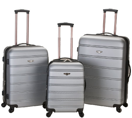 Rockland Luggage Melbourne 3 Piece ABS LuggageSet