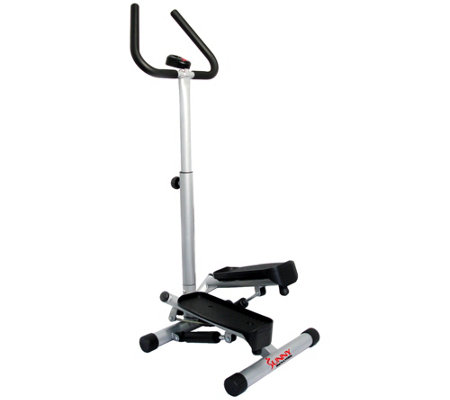 Sunny Health & Fitness Twist Stepper with Handle Bars