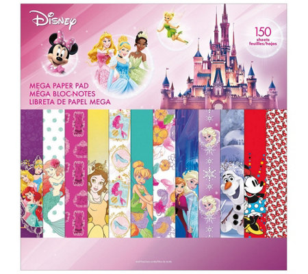 Disney Mega Paper Pad - Girl Designs 2