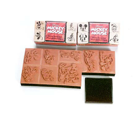 Mickey Mouse Rubber Stamp Set