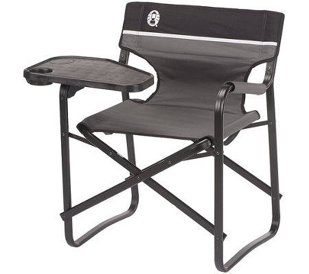 Coleman Aluminum Deck Chair with Swivel Table &Drink Holder