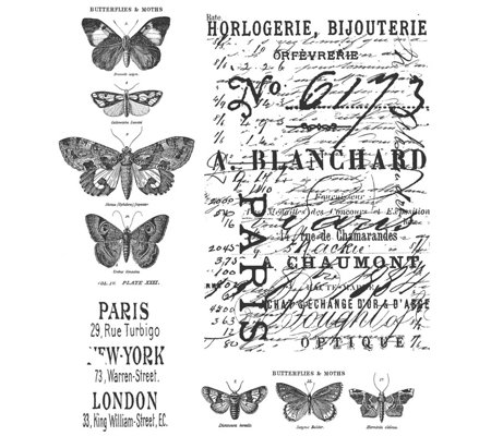 Tim Holtz Cling Stamps - Papillon