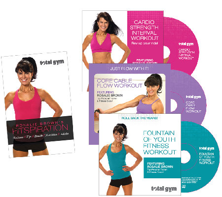 Total Gym Fitspiration Guide With Rosalie Brown 3 Dvds