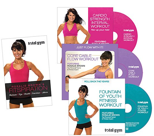 Total Gym Fitspiration Guide with Rosalie Brown, 3 DVDs