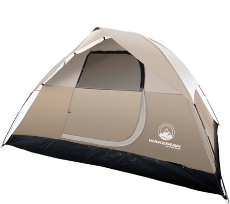 Wakeman Outdoors 4-Person Tent with Rain Fly and Bag