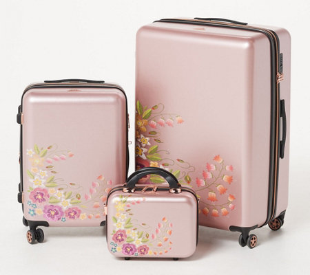 Triforce Luggage Set of 3 Embroidered Luggage - Fiori