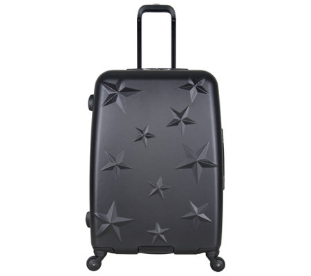 "Aimee Kestenberg Star-Journey 24"" Hardside Checked Suitcase"