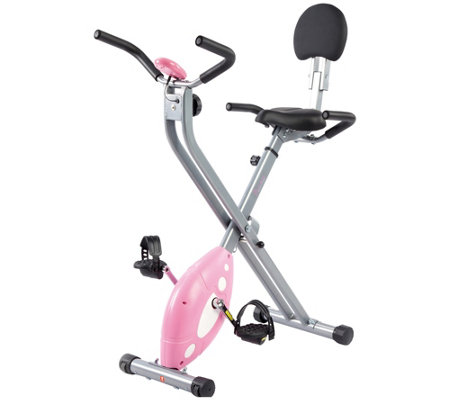 Sunny Health & Fitness Pink Folding Recumbent Bike