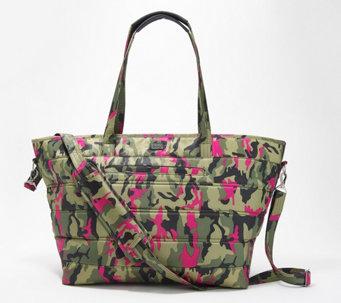 Mr.Weng Household Pink Circular Stacking Pattern Lady Handbag Tote Bag Zipper Shoulder Bag