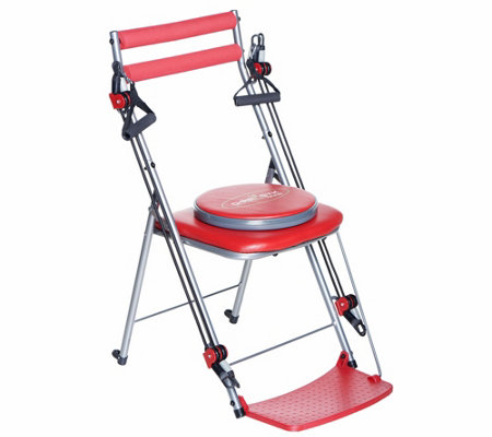 chair gym total body workout with 3 level resistance