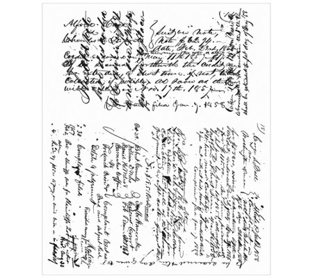 Tim Holtz Cling Stamp Set - Ledger Script