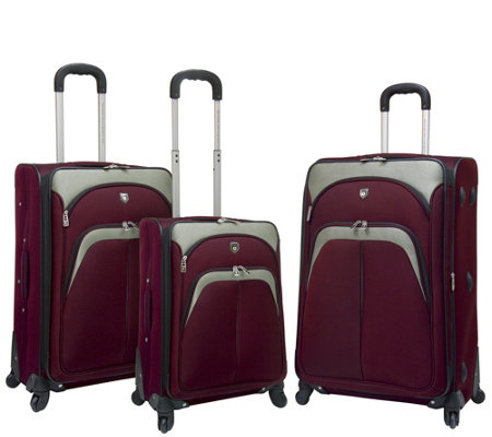 Travelers Club 3-Piece Softside Spinner LuggageSet- Lexington