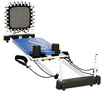 AeroPilates 5-Cord Reformer with Rebounder and 4 DVDs - F12689