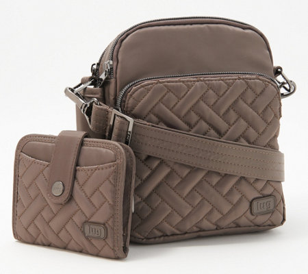 Lug Quilted Crossbody and Wallet Set - Can Can
