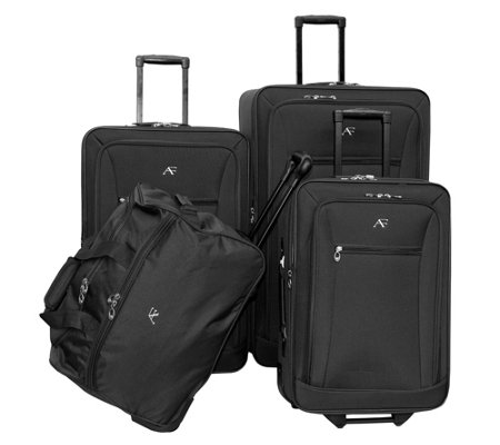 American Flyer Brooklyn Collection 4 Piece Luggage Set
