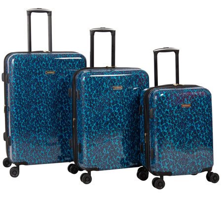 Isaac Mizrahi 3 Pc Blue Hardside Spinner Luggage Set Gabby