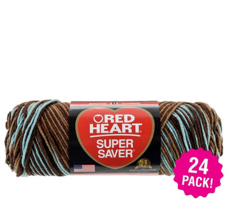 Red Heart Multipack Of 24 Earth Sky Super Saver Yarn