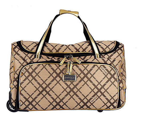 Ma New York Signature Rolling Weekender Bag