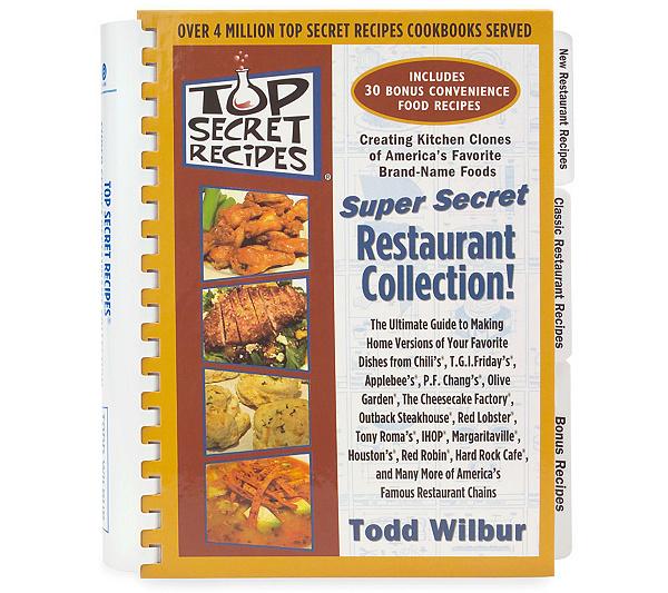 Top Secret Recipes Super Secretrestauran Collection Cookbook Page