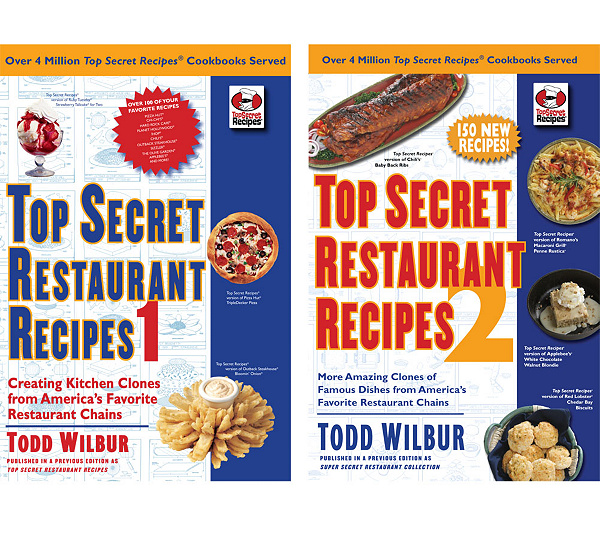 Top Secret Restaurant Recipes 2 Cookbook Set By Todd Wilbur Page