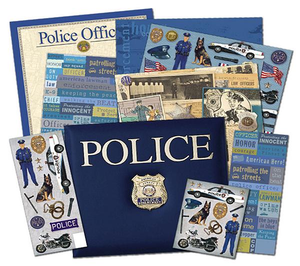 Police scrapbook kit 12 x 12 qvc malvernweather Images