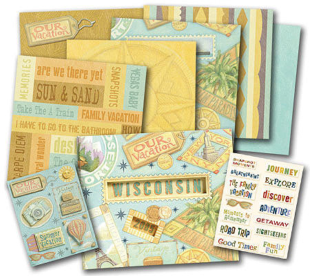 Tim Coffey 8 12 X 8 12 Vacation Scrapbook Kit Qvc